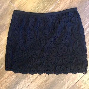Size small sexy lace mini skirt Black Label